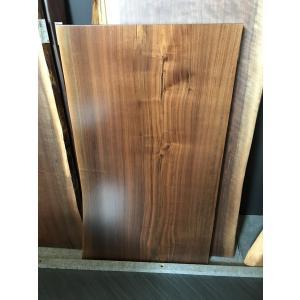 ウォールナット 一枚板 無垢 テーブル ウレタン塗装済 1300×770×60 mukusakura