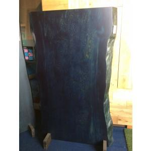 ヤクシマツ 松ガ 一枚板 無垢 テーブル 藍染済 1800×880 - 1050×47|mukusakura