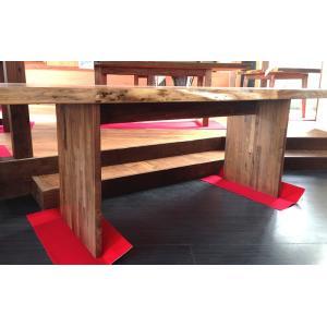 テーブル脚 HLシリーズ 木製脚 HL1 500x650 クリ 栗ア ウォールナット|mukusakura
