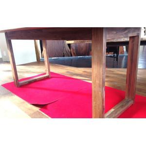 テーブル脚 HLシリーズ 木製脚 HL3 500x650 クリ 栗ア ウォールナット|mukusakura