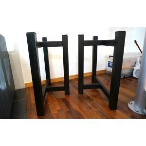 テーブル脚 HRMシリーズ 木製脚 HRMO1 D600 300x600x650 ブラック ウレタン塗装|mukusakura