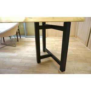 テーブル脚 HRMシリーズ 木製脚 HRMO1 D600 300x600x650 ブラック ウレタン塗装|mukusakura|02