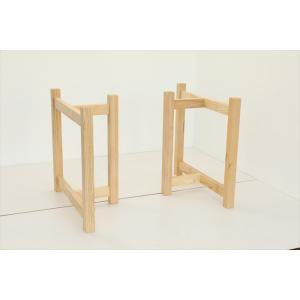 テーブル脚 HRMシリーズ 木製脚 HRMO1 D600 300x600x650 ナチュラル(クリ 栗ア) ウレタン塗装|mukusakura