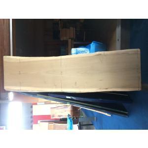 ホオ 朴 一枚板 無垢 テーブル 削り仕上げ 2400×630 - 730×50 mukusakura