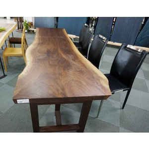 ウォールナット 一枚板 無垢 テーブル ウレタン塗装 2600×640 - 800×55|mukusakura