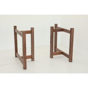 テーブル脚 ITOシリーズ 木製脚 ITO-4 300x700x650 ウォールナット|mukusakura