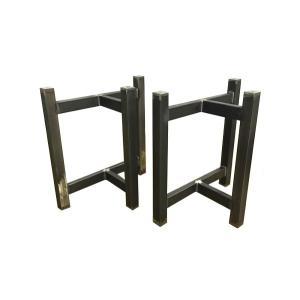テーブル脚 TASシリーズ アイアン脚 TAS-07 700x300x650 サンドブラック|mukusakura