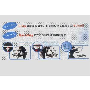 アルインコ KLC-100 軽量6.5kg コンパクト台車/スリムキャリー|mulhandz|04