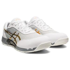 アシックス 安全靴 ウィンジョブ CP212 AC ホワイト×ピュアゴールド 各サイズ|MULHANDZ