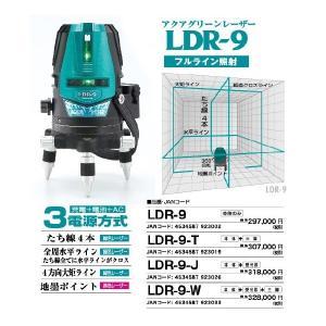 予備バッテリーと電池カートリッジプレゼント LDR-9-3D-W 限定 山真 アクアグリーンレーザー 受光器+三脚|mulhandz