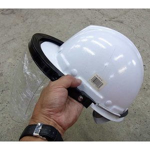 ヘルメット装着型 飛まつガード 防災面 EP-210 アイプロクリアー TypeCL 防災面 働楽|mulhandz