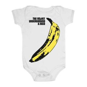ヴェルベット アンダーグラウンド ロンパース Velvet Underground 白 正規品 ベビー服 ロックTシャツ関連 mumbles