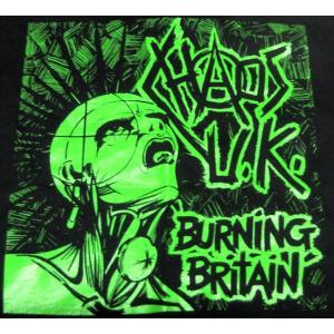Chaos U.K. BurningBritain Mens Tee  ブリストル発、80s UKH...