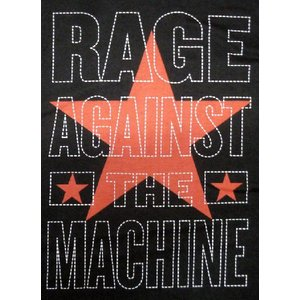RAGE AGAINST THE MACHINE: STACKED STAR MENS SLIM F...