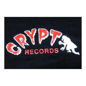 クリプト・レコード Tシャツ Crypt Records 黒 正規品 ロックTシャツ バンドTシャツ|mumbles