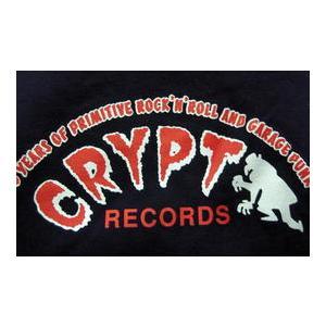 クリプト・レコード Crypt Records Lady's-Tシャツ 紺 正規品 ロックTシャツ バンドTシャツ|mumbles