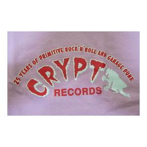クリプト・レコード Crypt Records Lady's-Tシャツ ピンク 正規品 ロックTシャツ バンドTシャツ|mumbles