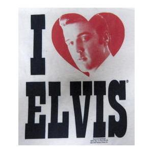 エルヴィス・プレスリー Elvis Presley Ladys-Tシャツ 正規品 I Heart Elvis ロックTシャツ バンドTシャツ|mumbles