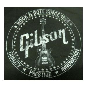 ギブソン Gibson Tシャツ 黒 US正規品 ロックTシャツ バンドTシャツ mumbles