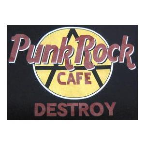 パンク・ロック・カフェ Tシャツ Punk Rock Cafe ハードロックカフェパロディ ロックTシャツ バンドTシャツ mumbles