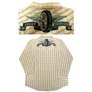 ラッキー13 LUCKY13 ウェスタンシャツ Flying Wheel|mumbles