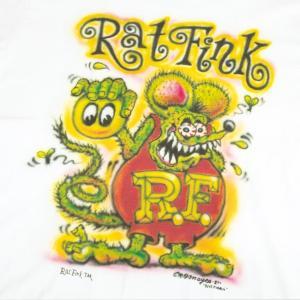 ラットフィンク RATFINK Tシャツ グリッター 白 正規品 ラメ|mumbles