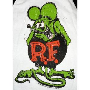 ラット フィンク ベースボール Tシャツ RAT FINK 黒×グリーンフィンク US正規品|mumbles