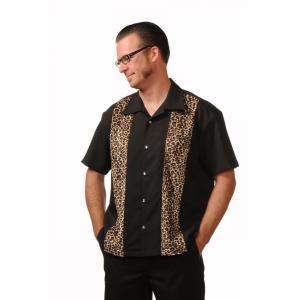 ステディ クロージング 半袖 オープンカラー パネル シャツ 豹柄 Steady Clothing 半袖シャツ|mumbles