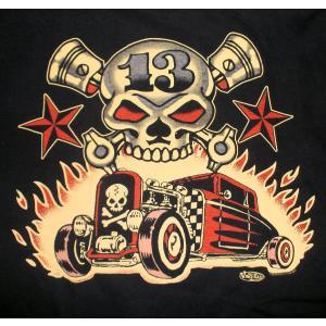 ヴィンス・レイ Tシャツ Vince Ray Skull Rods|mumbles