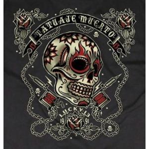 ラッキー13 Tシャツ LUCKY13 DEAD TATTOO 黒|mumbles