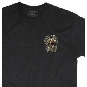 ラッキー13 Tシャツ LUCKY13 DEAD TATTOO 黒|mumbles|05