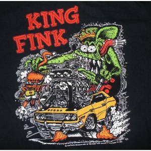 ラット フィンク Tシャツ Rat Fink King Fink 黒 正規品|mumbles
