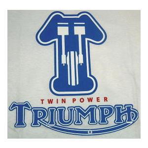 TRIUMPH TWIN POWER TEE 正規品  歴史に名を残すイギリスのモーターサイクルメー...