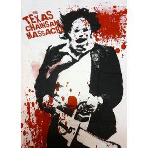 悪魔のいけにえ/Texas Chainsaw Massacre のビッグプリントTシャツ「Splat...