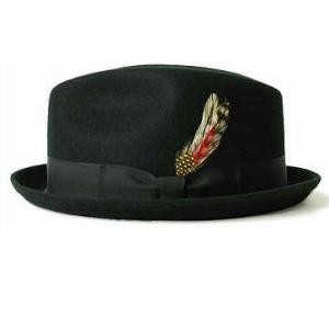 New York Hat ニュー・ヨーク・ハット Stingy 黒 ポークパイハット 中折れ帽子 mumbles
