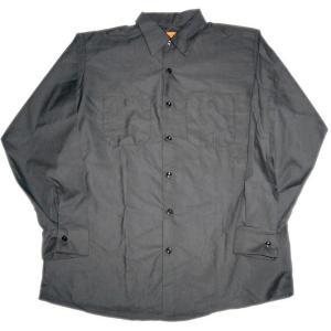 レッド キャップ 長袖 ワークシャツ RED KAP 黒|mumbles