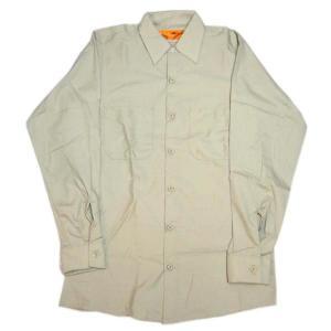 レッドキャップ REDKAP 長袖 ワークシャツ ライトタン Tan|mumbles