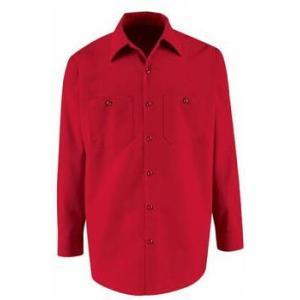 レッドキャップ REDKAP 長袖 ワークシャツ 赤|mumbles