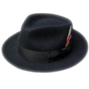 New York Hat ニュー・ヨーク・ハット Gangster 黒 ボルサリーノ 中折れ帽子 mumbles