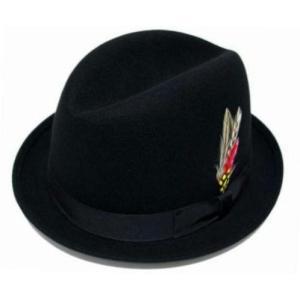 New York Hat ニュー・ヨーク・ハット Rude Boy 黒 ポークパイハット 中折れ帽子 mumbles