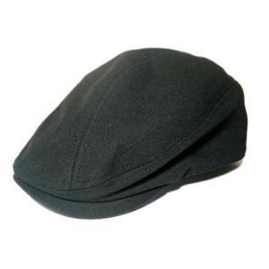 Gently ハンチング キャップ 黒 キャンバス 帽子 mumbles