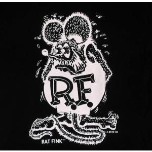 ラット フィンク Tシャツ RAT FINK 黒 モノフィンク (ラット背中プリント) 正規品|mumbles