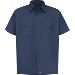 レッド キャップ ワークシャツ RED KAP フラップ付 紺|mumbles