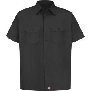 レッド キャップ ワークシャツ  RED KAP フラップ付 黒|mumbles