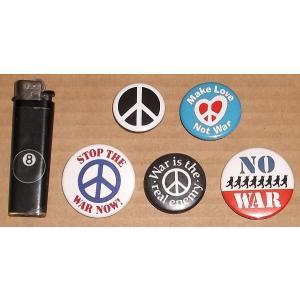 No War 反戦 Anti-War バッジ5種セット Peace Resauce Project|mumbles