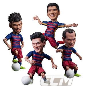 FCバルセロナオフィシャルグッズTOYS ROCKA! FCバルセロナ メッシ、ネイマール、スアレス、イニエスタ フィギュア【サッカー/FC Barcelona/Messi/Suarez/Neymar/|mundial