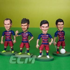 FCバルセロナオフィシャルグッズTOYS ROCKA! FCバルセロナ メッシ、ネイマール、スアレス、イニエスタ フィギュア【サッカー/FC Barcelona/Messi/Suarez/Neymar/|mundial|02