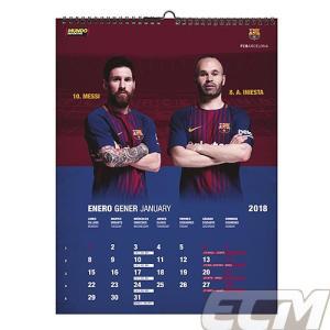 【サッカー FCバルセロナ】【国内未発売】MD社製 FCバルセロナ 2018 A3ポスターカレンダー|mundial|02