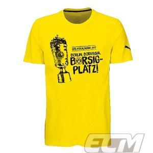 【サッカー ドルトムント】ボルシア・ドルトムント 16-17シーズンドイツカップ優勝記念 Tシャツネコポス対応可能|mundial