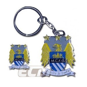 マンチェスター シティ オフィシャル ピンバッジ&キーリングセット【Manchester City/キーホルダー/サッカー/プレミアリーグ/アグエロ】|mundial